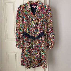 Lilly Pulitzer silk long sleeve dress